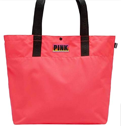 Victorias Secret PINK Tote Bag for Beach/Travel/Book Coral Marl Grey (Coral)