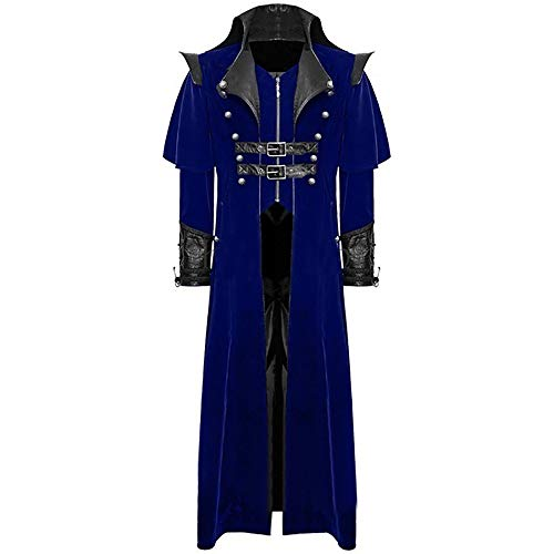 Teresamoon Men's Print Coat Tailcoat Jacket Gothic Frock Coat Uniform Costume Party Outwear (Most Wished & Gift Ideas)