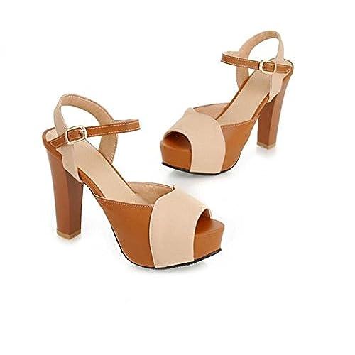 De bajo costo SHFANG shoes Verano Sandalias de Señoras Tacones Altos Zapatos  de Cabeza ae73145c0a67