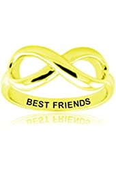 Sterling Silver Best Friends Engraved Infinity Ring