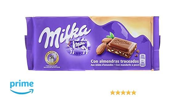 Milka Tableta De Chocolate Leche Y Almendras - 125 g: Amazon.es: Amazon Pantry