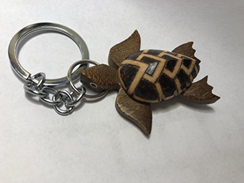 Turtle Keychain-Hawaiian turtle key chain-Turtle keychains-Cute turtle keychain-KeyRings (Stripes) (Stripe Breeze Tropical)