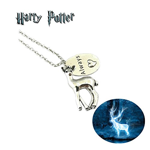 Harry Potter Always Necklace Pendant Deer / Doe Books Movies Cosplay by Athena by Athena Brand (Image #2)