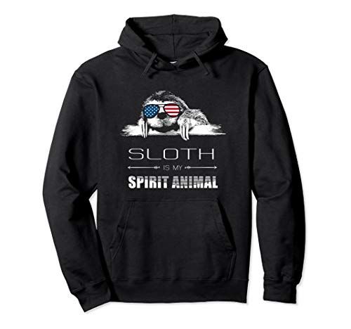 Sloth Is My Spirit Animal Funny Sloths Face Head Hoodie