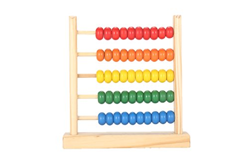 MAGIKON Miniature Counting Frame,5 Rows,Learning Mathematics Abacus (Row Abacus)