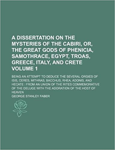 dissertation on the mysteries of the cabiri