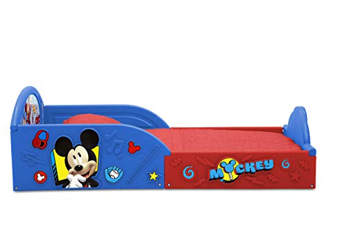 Disney Mickey Mouse Deluxe Toddler Bed with Attached Guardrails 6