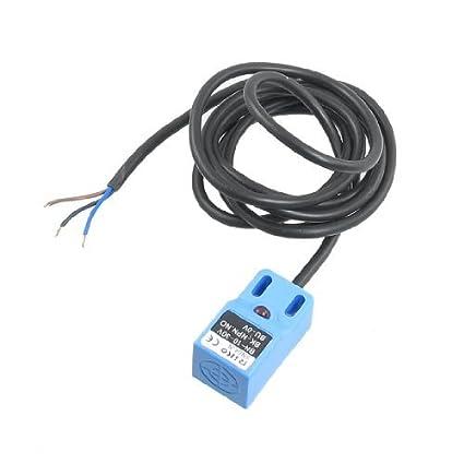 eDealMax DC de 3 hilos Interruptor 10-30V 4mm Scanning sensor de proximidad Distancia NPN