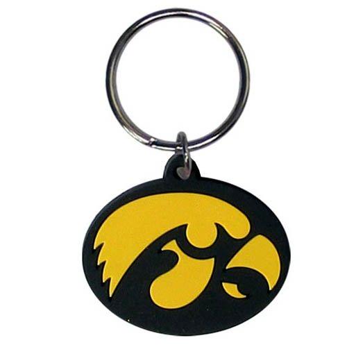 NCAA Iowa Hawkeyes Team Logo Flex Key Chain - Iowa Hawkeyes Logo Keychain