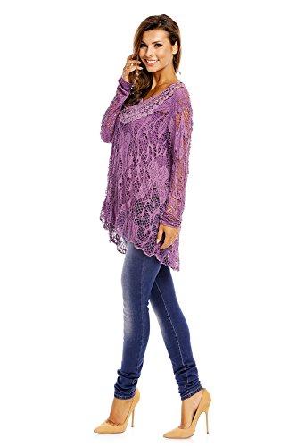 Fabio Fashion - Camisas - Casual - para mujer morado