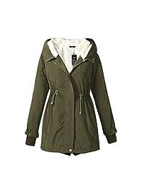 Women's Warm Cotton-padded Coat Winter Hood Parka Plus Size Overcoat Long Jacket