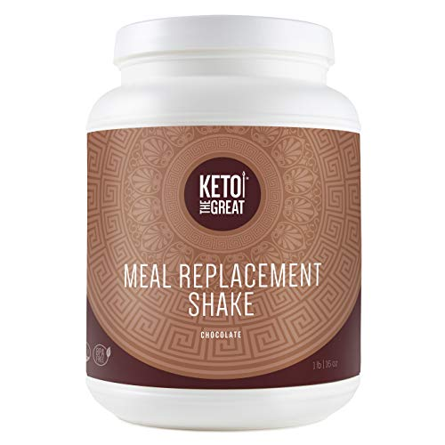 Keto the Great™ - Low Carb Meal Replacement Shake – Plant Based Protein Powder, Low Calorie Shake for Keto Diet - Chocolate (1 lb)