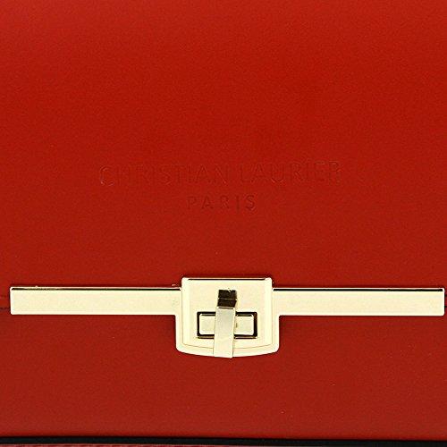 Christian Laurier - Sac à main en cuir modèle Geri rouge - Sac à main haut de gamme petit modèle fabriqué en Italie