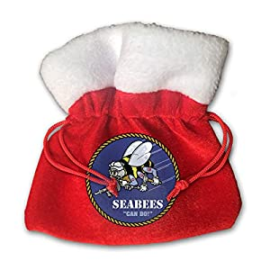 XFEQAZV Seabee Crossed Flag Personalized Bag Christmas Tradition and Nice Decorations Bags from XFEQAZV