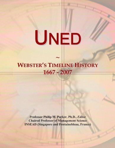 Uned: Webster's Timeline History, 1667 - 2007