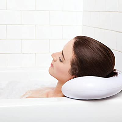 Bath Pillow Luxury Spa with Suction Cups - Extra Firm and Best Quality - Supports Your Neck & Head Perfectly - Fits All Hot Tub, Whirlpool, Jacuzzi & Standard Tubs - Great Valentine's Day Gifts!