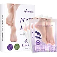 MayBeau 4 Pairs Foot Peel Mask Exfoliating Baby Foot Mask Set