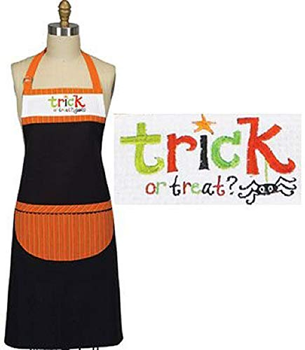 Kay Dee Sassy Sentiments Trick or Treat Embroidered Chef Apron Designs ()