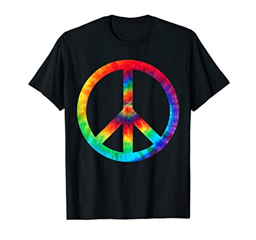 PEACE SIGN Tie Dye T-Shirt | Hippies Christmas Shirts -