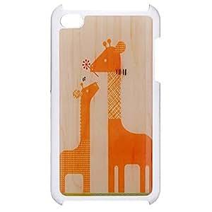 Estilo de dibujos animados Jirafa madre y el hijo modelo de la jirafa Caso duro epoxi para iPod Touch 4