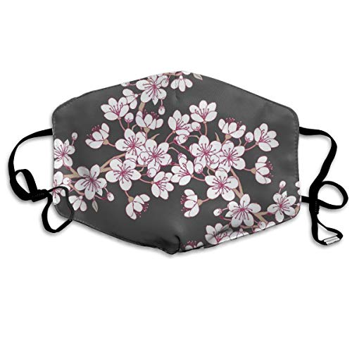 (Cherry Blossom Flu Dust Masks Reusable Cotton Breathable Safety Respirator for Outdoor Cycling Face Earloop Masks Dust Pollen Flu Germs Allergens Masks)