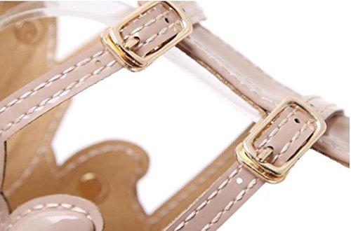 11 cm de lujo de ala de tobillo correas de la boda de tacón de aguja abierto dedo del pie individualidad verano señoras sandalias UE tamaño 35-40 Black