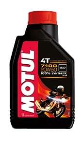 Motul 104103 7100 4T Fully Synthetic Ester 20W-50 API SN Petrol Engine Oil for Bikes (1 L)