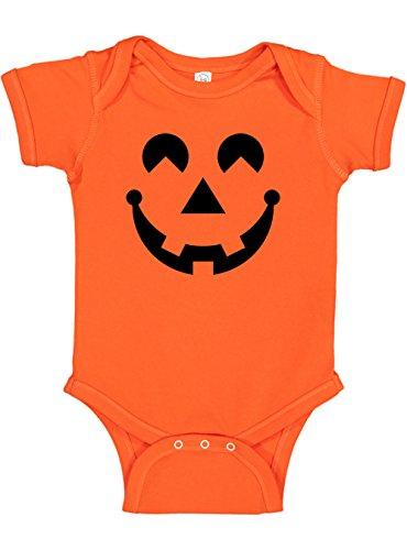 Panoware Baby Halloween Pumpkin Costume Onesie | Jack-O-Lantern, Orange, 0-3 Months -