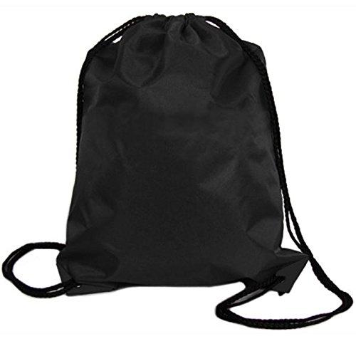 Floral Drawstring Bag Shoulder (Creazrise Women Backpack,Womens Drawstring Canvas Backpack Floral Print Shoulder Bag (Black A))