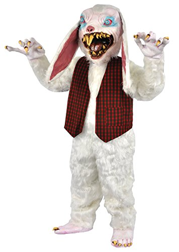 UHC Peter Rottentail Bunny Outfit Horror Movie Theme Halloween Costume, -