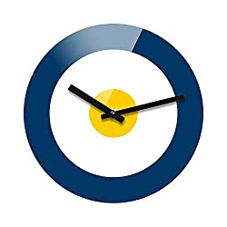 Refelx Non-Ticking Silent Acrylic Wall Clock, Large, Target, Blue