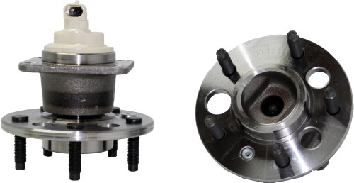 Rear Wheel Hub And Bearing (New Pair Rear Wheel Hub and Bearing Assembly 5 Lug FWD W/ ABS [Impala, Grand Prix, Allure, Regal, Monte Carlo][FWD Aztek, Uplander, Relay, Montana, Venture])