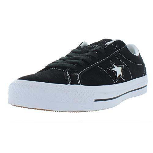 (Converse Mens Suede Low Top Skate Shoes B/W 11 Medium (D))
