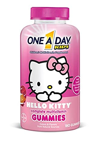 One A Day Kids Hello Kitty Gummies, 180 Count (One A Day Bayer)