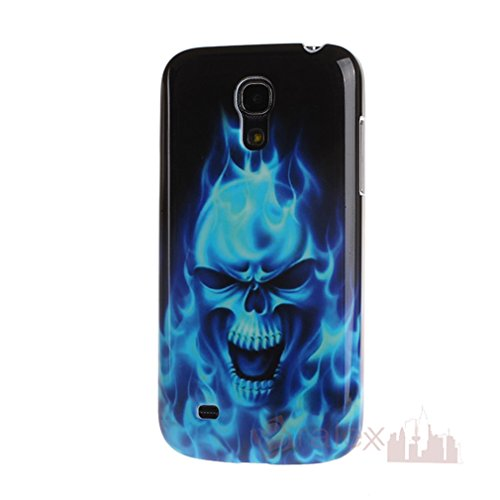 Bralexx Blue Skull Hülle für Samsung Galaxy S4 mini i9190 Case Cover