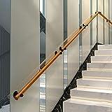 GGCG Non-Slip Wood Stair handrails Home Against The Wall Indoor loft Elderly railings handrails Corridor Support Rod