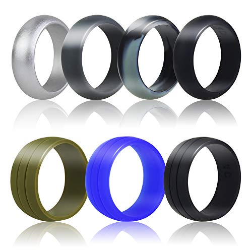 AK KYC Silicone Wedding Rings for Men