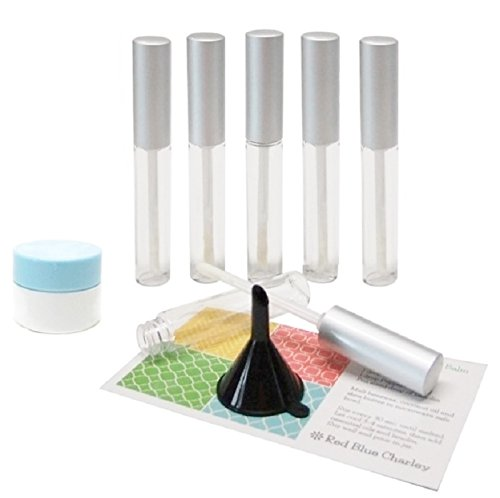 Clear 11 Milimeter Empty Lip Gloss Tubes Silver Caps  with F