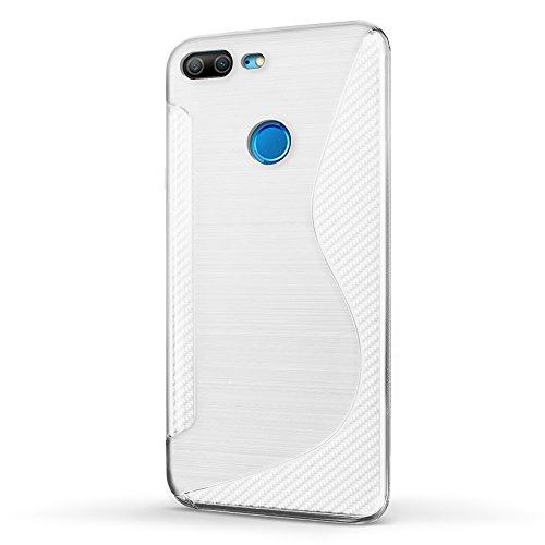 SLEO Funda para Huawei Honor 9 Lite Slim Fit TPU Carcasa de Parachoques Case Cover Suave con Absorción de Impactos y Resistente a los Arañazos para Huawei Honor 9 Lite - Negro Claro