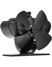 Stove Fan, 4 Blades Heat Powered Hanging Fireplace Fan for Wood/Log Burner Efficiently Heat Distribution-Eco Friendly (Mini fen)