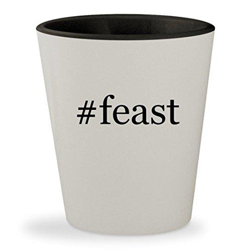 #feast - Hashtag White Outer & Black Inner Ceramic 1.5oz Shot Glass - Nigella Lawson Ceramic