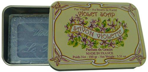 LeBlanc Seife in Nostalgie-Blechdose, Duft Veilchen, 1er Pack (1 x 100 g)