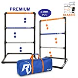 Premium Ladder Ball Toss Game For Adults, Kids, Family - Outdoor Ladders Set