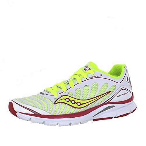 Saucony Women's Progrid Kinvara 3 Running Shoe,White/Citr...