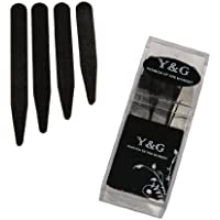 Y&G Men's Fashion Various Quantity/Sizes Set Metal Collar Stays for Mens in a Clear Plastic Box