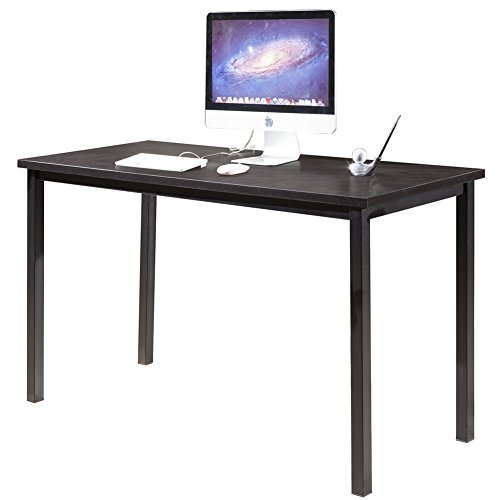 CMO 55'' Large Size Modern Computer Desk Long Office Desk Writing Desk, Workstation Table for Home Office, Black by CMO