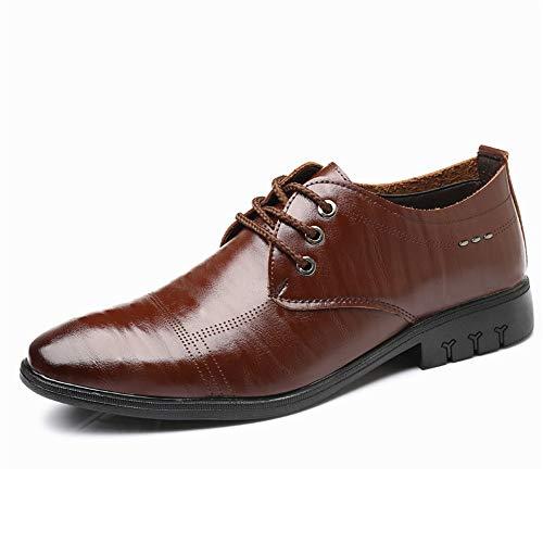 Marron 43 EU XHD-Chaussures Mode pour Hommes Oxford Décontracté Chaussures Confortables Simples légères Douces légères Confortables (Couleur   Marron, Taille   43 EU)