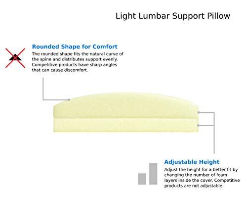 Trucontour Lumbar Pillow For Sleeping Adjustable Height