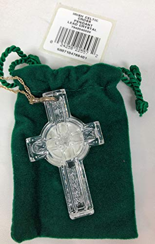 (Waterford Crystal Celtic Cross Pendant with 20