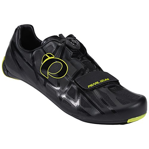 D&m Custom Cycle Support (Pearl Izumi Men's Race RD IV Cycling Shoe, Black/Lime Punch, 46 EU/11.5 D US)